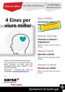 Cicle de tallers: 4 eines per viure millor @ Xalet Negre | Sant Cugat del Vallès | Catalunya | Espanya