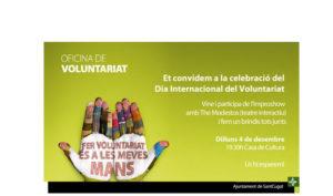 Celebració del Dia Internacional del Voluntariat @ Casa de Cultura   Sant Cugat del Vallès   Catalunya   Espanya
